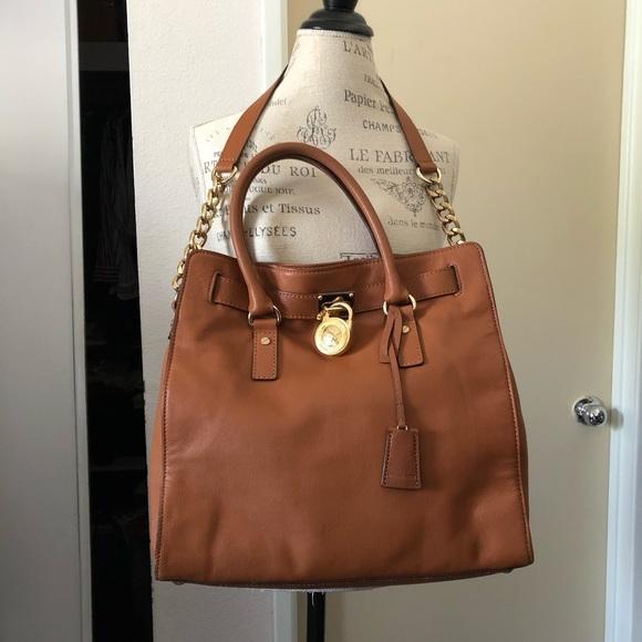 Michael Kors Handbags - Michael Kors Large Brown Hamilton Purse